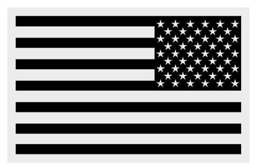 "American Flag Black REVERSED Small Reflective Helmet Decal Sticker 2/"" X 3/"""