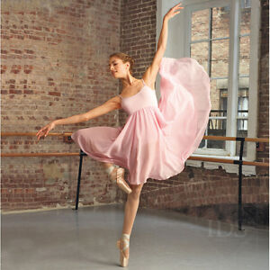 Capezio-Adult-Camisole-Empire-Lyrical-Dress-Dance-Costume-4-Colours