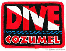 DIVE COZUMEL - EMBROIDERED PATCH SCUBA DIVING FLAG LOGO IRON-ON TRAVEL SOUVENIR