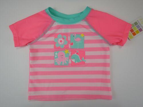 Girls Healthtex Baby Infant Swim Shirt Rashguard Pink