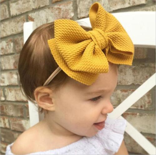 Fashion Kids Girl Baby Headband Toddler Elastic Bow Hair Band Accessories
