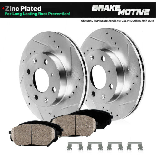 For Toyota MR2 Toyota Echo Front Drilled /& Slotted Brake Rotors /& Ceramic Pads