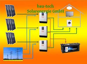 4000Watt Photovoltaikanlage Hybrid komplett SET / 3 phasig mit Batterie Speicher
