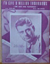 I'd Give A Million Tomorrow's - 1948 sheet music - Arthur Godfrey photo cover