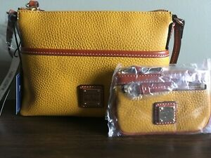 Dooney-and-Bourke-Ginger-crossbody-with-small-coin-NWT-Mustard-yellow