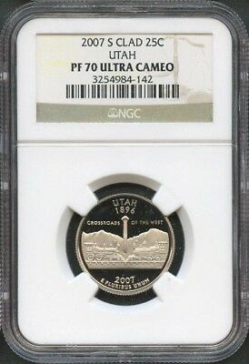 2007 S CLAD STATE QUARTERS SET NGC GRADED 69 PROOF UC