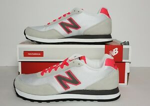 WOMAN'S NEW BALANCE 411 CLASSICS WHITE/PINK/BROWN/TAN SIZE 7 WL411AAC NEW/BOX