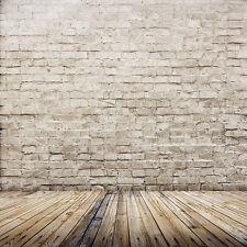 Vinyl Studio Brick Wall Wood Backdrop Photography Photo Background 3X5FT ZZ44 US