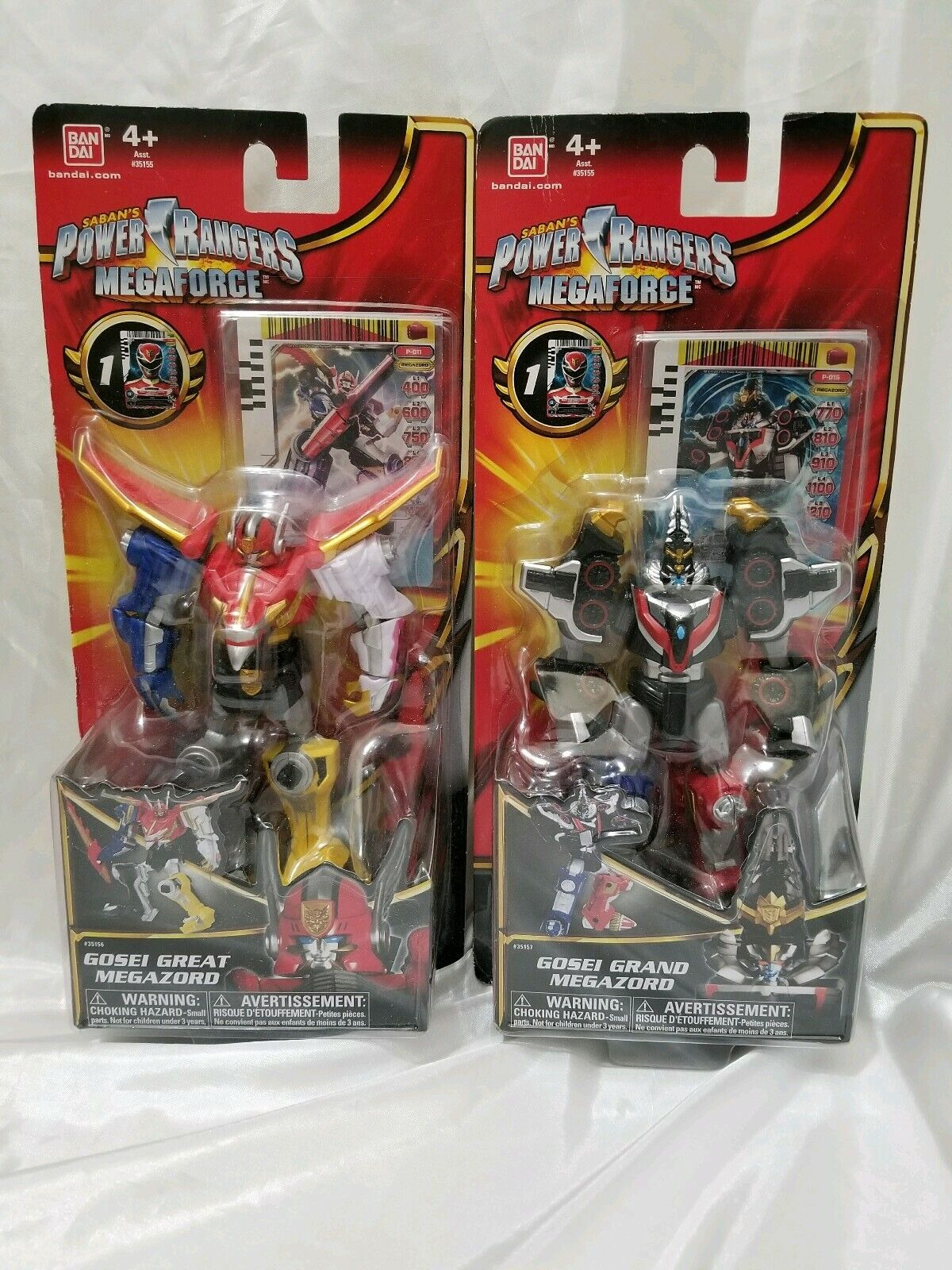 Power Rangers Megaforce 5.5  Gosei Grand Megazord & Gosei Great Megazord Figures