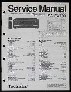 details about technics sa ex700 original av receiver service manual diagram parts list o186 Technics SA 300 Specs