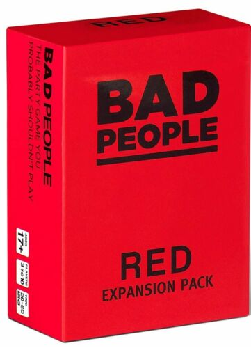 RED Expansion Pack - The Party Game 100 NEW Question Cards BAD PEOPLE
