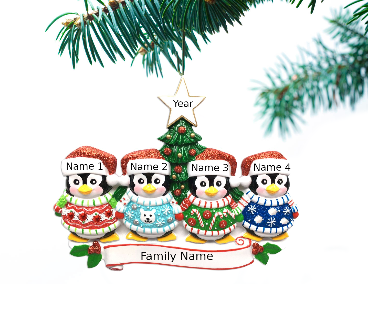 Christmas Decorations Trees Name Personalized New