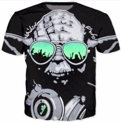 Fashion 3D Print Yoda Darth Star Wars New Women Men TShirt Short Sleeve Tee Tops