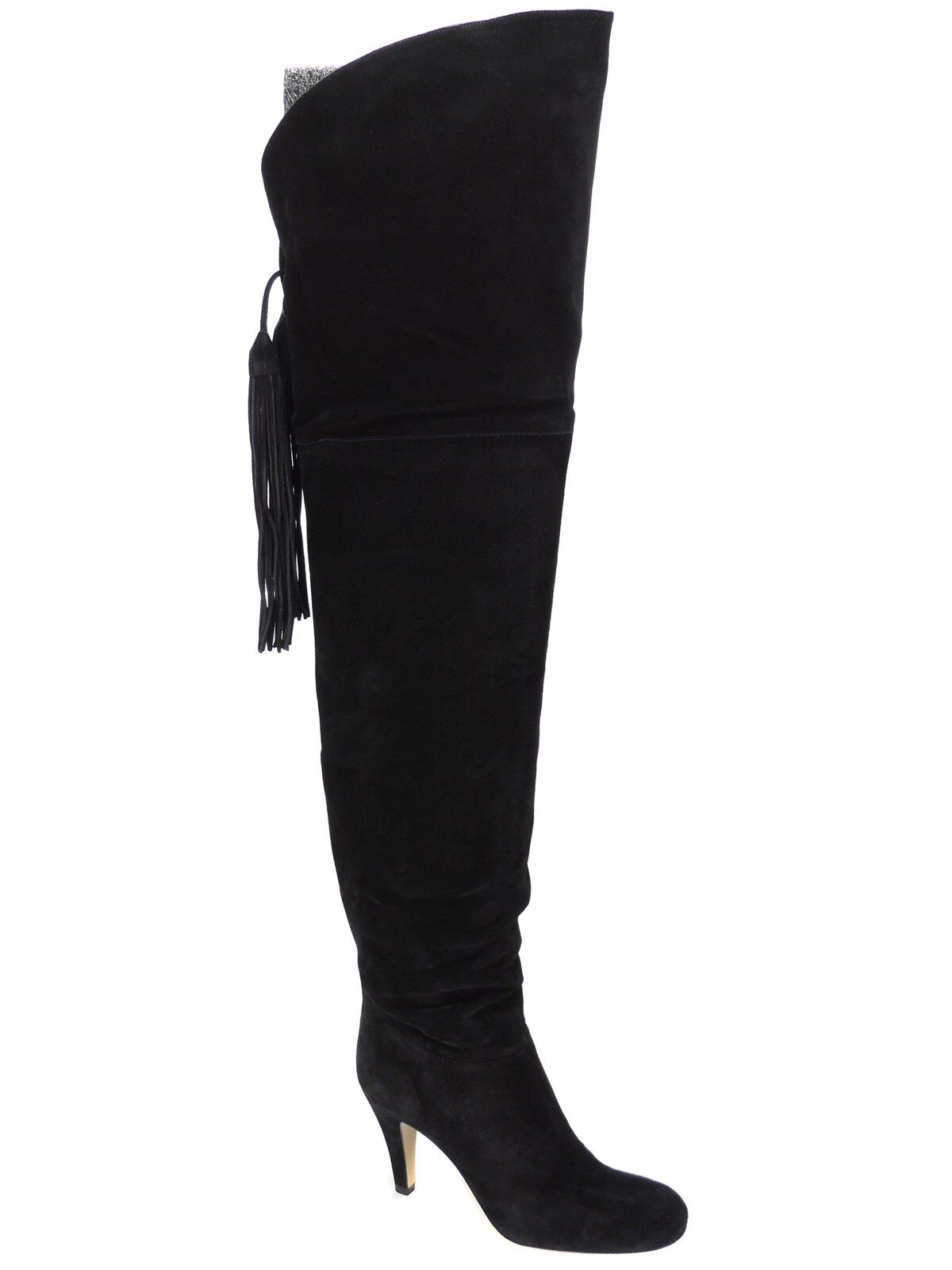 Chloé Women's Fringe Cuissar Tie Back Over the Knee Boots Black /US 6.5M