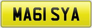 MAISY-PRIVATE-NEAT-CAR-REG-NUMBER-PLATE-ALL-FEES-PAID-MA61-SYA-MAISIE-MAISEY