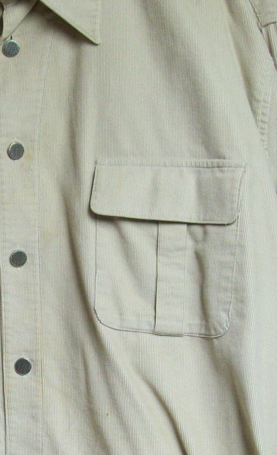 Vintage Mens Western Cotton Corduroy Overshirt XL… - image 6