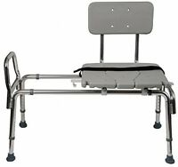 Heavy-duty Sliding Bench, Shower Chair Adjustable Handicapped Hospital Home Gray
