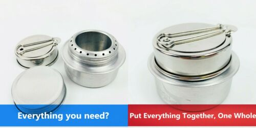 Alcohol Burner Ultralight Aluminum /& Simmering Ring For Outdoor Hiking Camping