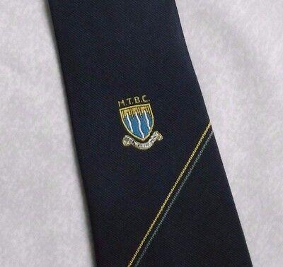 Coscienzioso Vintage Cravatta Da Uomo Cravatta Scudo Crested Club Associazione Società College Mtbc-