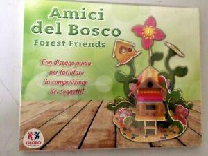 Amici del bosco Forest Friends casetta in legno da costruire casa gioco bimbi