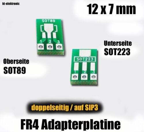 10 pcs sot223 sot89 Adaptateur carte sur DIP