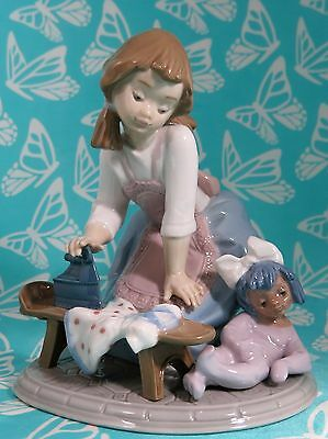 Lladro # 5782 ~ MY CHORES ~ Girl Ironing    * MINT*
