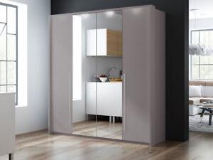 kleiderschrank spiegel modern, kleiderschrank reims 210 falttürenschrank garderobeschrank spiegel, Design ideen