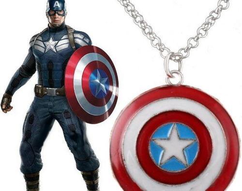 Pendentif bouclier captain america collier captain america shield pendant
