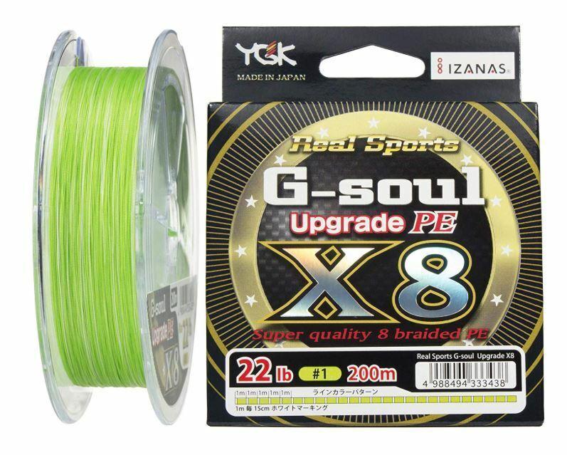 Yotsuami YGK G-Soul Polietileno de actualización de X8  200M No.1 22LB Trenza verde Pista F S de JP  servicio de primera clase