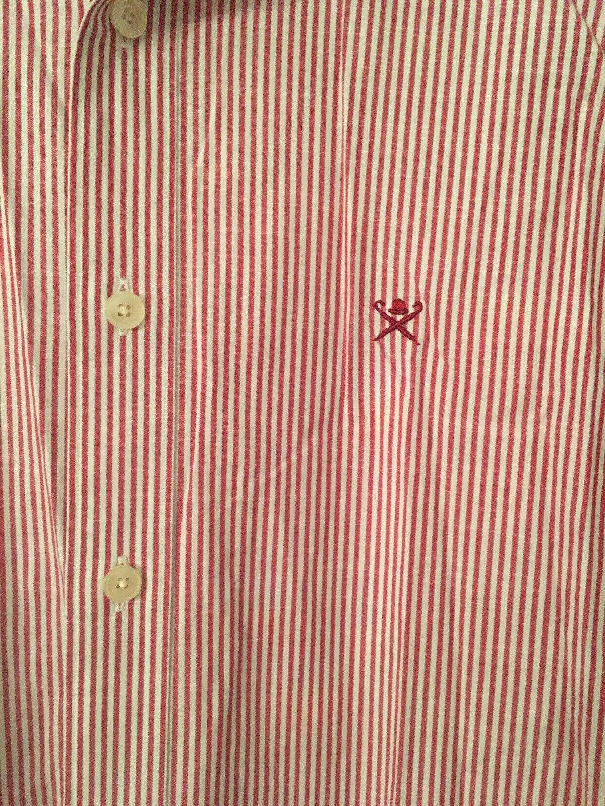 Hackett uomo VINTAGE DEL BENGALA a Righe Righe Righe Slim Fit Camicia in cotone, Medio 29b543