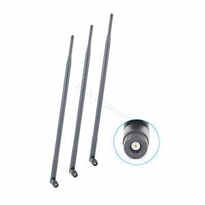3 x 6dBi RP-SMA 2.4GHz 5GHz 5.8GHz DB WiFi Antenna for Nighthawk Netgear AC1900