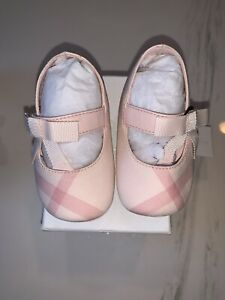 NEW-Auth-Burberry-Infant-Baby-Girls-Pink-Sandals-Shoes-Nova-Plaid-Check-17-195