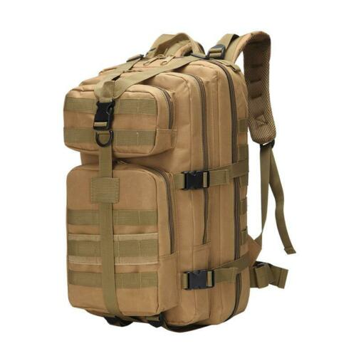 35L Mens Military Tactical Backpack Rucksacks Large Capacity Camping Hiking Bag