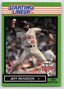 1989  JEFF REARDON - Kenner Starting Lineup Card - MINNESOTA TWINS