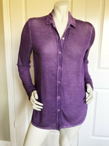 MAJESTIC FILATURE DELUX DYED LAVENDER SILK TEE SHI