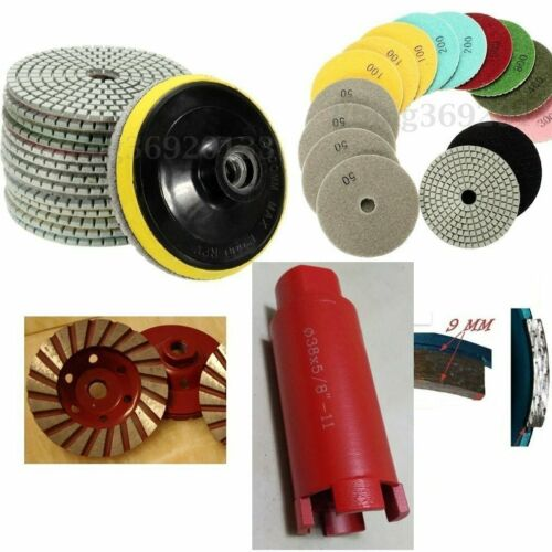 "1 3//8"" Core Bit Grinding Cup Wheel stone concrete 4/"" Diamond Polishing Pad 28"