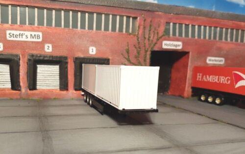 Containerchassis Krone mit 2 x 20 ft Container Auflieger Eigenbau Herpa 40 ft