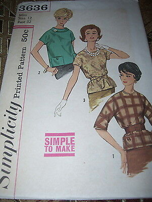 2 STYLE UNCIRCULATED 1973 SIMPLICITY #6155-LADIES RETRO DRESS PATTERN 12-46 FF