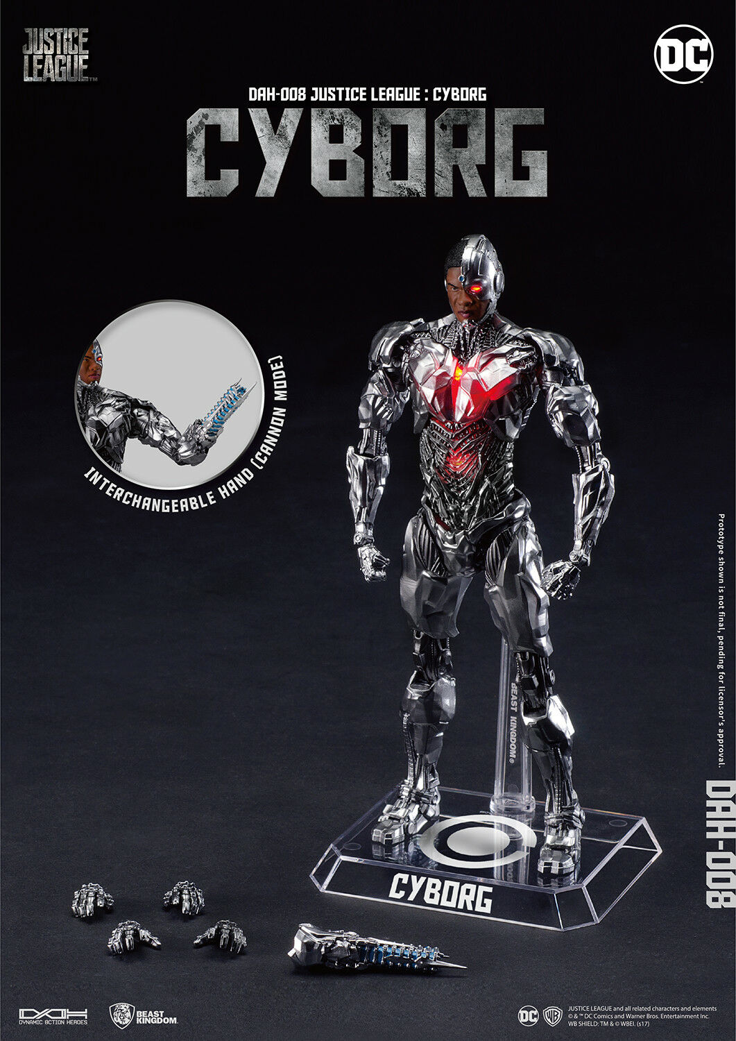BEAST KINGDOM Justice League MOVIE DAH-008 DYNAMIC 8-CTION CYBORG  Figure NEW