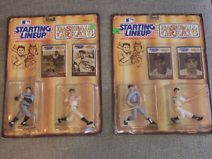 1989 Kenner Starting Lineup Baseball Greats Ruth & Gehrig & MANTLE & Dimaggio