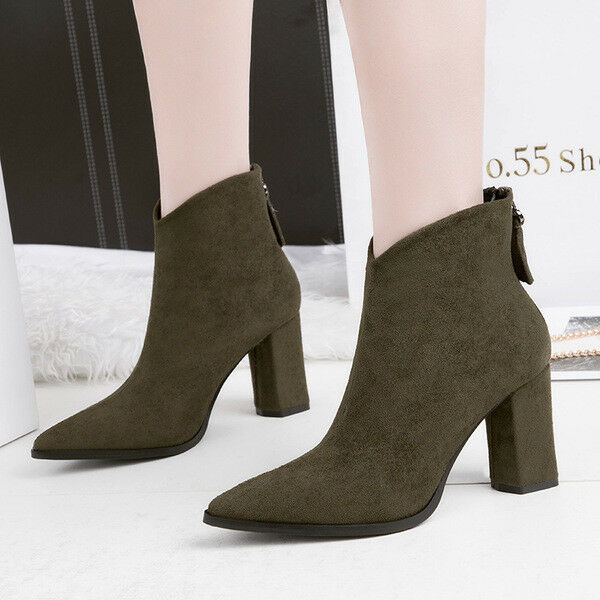 boots low schuhe ankle green 10 cm elegant like Leder 9674
