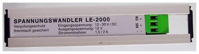Le-2000 Convertitore Di Tensione Input 12-30v Dc, Output 12v. 1,5/2a. Id19138-er Input 12-30v Dc, Output 12v. 1,5/2a. Id19138 It-it Funzionalità Eccezionali