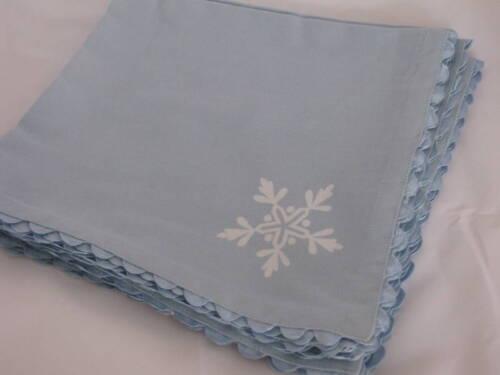 Snowflake Blue Napkins Set of 4 Holiday Winter Snow NEW Christmas Company Store