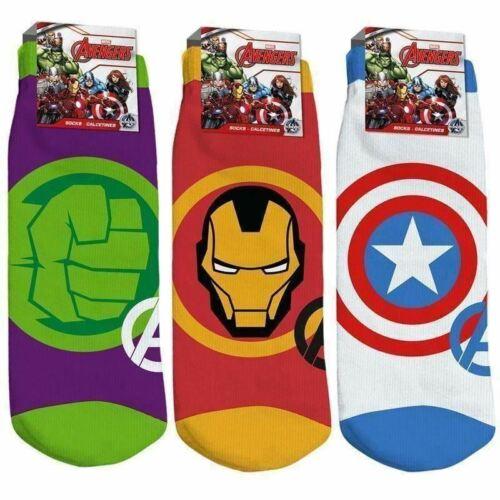 Marvel Avengers Green Hulk Enfants Paire De Chaussettes Chaussettes Taille UK 9-11 UE 27-30