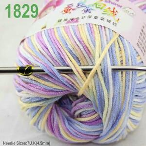 Sale-New-1-ball-x50gr-Cashmere-Silk-Velvet-Baby-Children-Hand-Knitting-Yarn-29