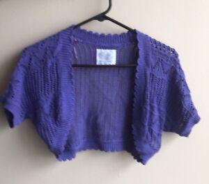 Crochet Ladies Bolero Flower Bolero Lavender Bolero UK Seller