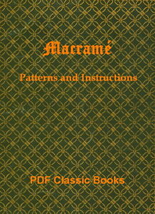 Macrame-Knotting-Cord-Work-Guide-Craft-Patterns-Instructions-Macrame-Book-on-CD