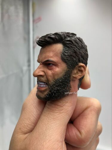 "Custom 1//6 Scale Angry Logan Wolverine Head Sculpt Hugh Jackman pour 12/"" figure"