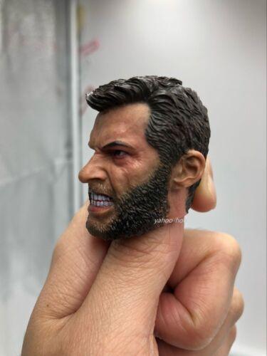 "Custom 1//6 Scale Angry Logan Wolverine Head Sculpt Hugh Jackman pour 12/"" figure"
