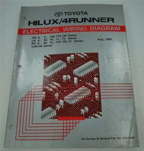 Details about Toyota EWD140F Electrics Wiring Diagrams 4 Runner Hilux on